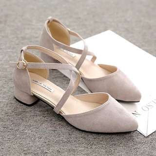 Cover Toe Heels with straps light grey women shoes prom party wedding event elegant footwear #ramadan50