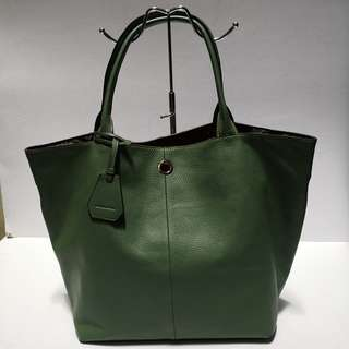 Rabeanco Alex Large Green Leather Tote Bag  - Almost New