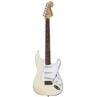 Fender Classic Series 70s Stratocaster Guitar, Rosewood Neck, Olmypic White, w/Gigbag