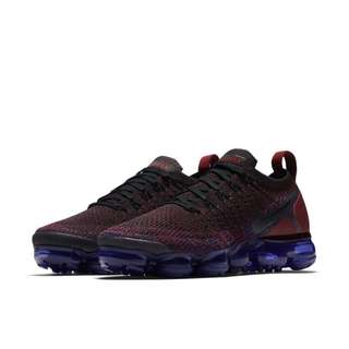 ce973d86ac71 Authentic NIKE AIR VAPORMAX FLYKNIT 2 Purple   Black   Team Red   Racer Blue