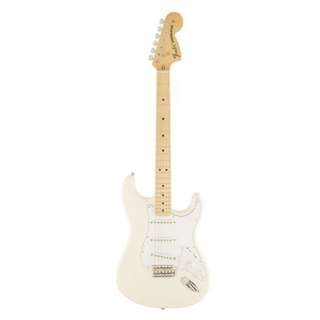 Fender Classic Series 70s Stratocaster Guitar, Maple Neck, Olympic White, w/Gigbag