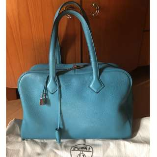 HERMES 35cm clemence leather victoria II bag (R)