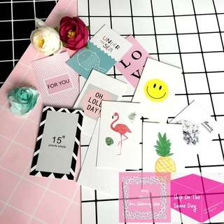 Set of 10pcs Mini Decorative Photo Card Pack