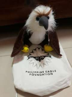 Philippine Eagle stuffed toy with pouch