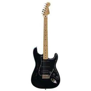 Fender FSR Standard Stratocaster HSS Electric Guitar, Maple FB, Black