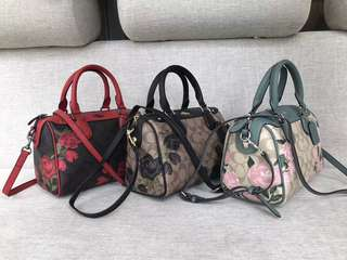 Authentic full set coach rose series women's bag package