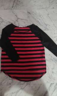 Net Collection Striped Pullover