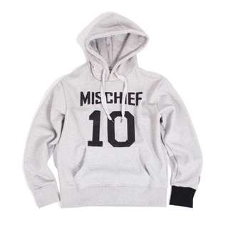 (二手)MISCHIEF 數字 10帽 TEE Hoodie 重磅 內有刷毛