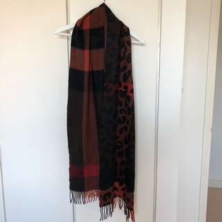 Cashmere two-sided scarf