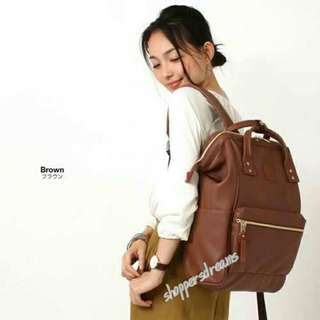 Anello Backpack PU Leather Large AT-B1211 - Brown