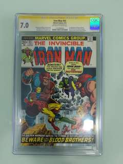 Iron Man #55, CGC 7.0 Signature Series, Jim Starlin
