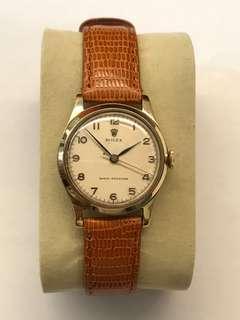 Rare Rolex 1950's Solid 9K Gold