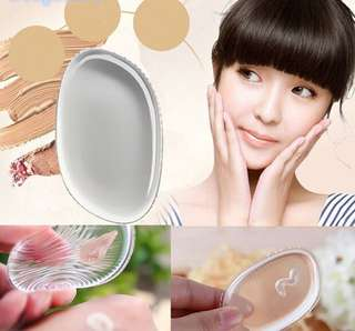 Silicone Jelly Cosmetic Beauty Tool Foundation Transparent Makeup Puff