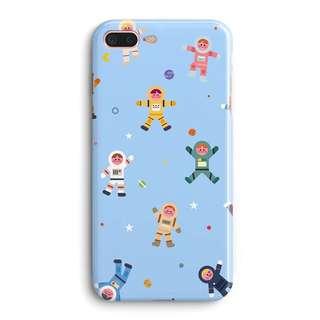 國際太空人透明邊框磨砂iphone電話手機保護軟套