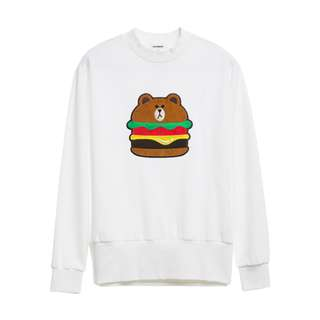 [Pre-order] Authentic Line Brown Long Sleeve Top (White)