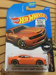 HOTWHEELS FACTORY SEALED 2017 CHEVY CAMARO (Special Edition)