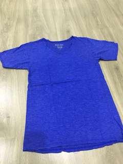 V neck blue