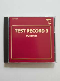 CD Opus3 Test Record 3 - Dynamics
