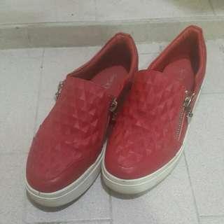 紅色厚底鞋
