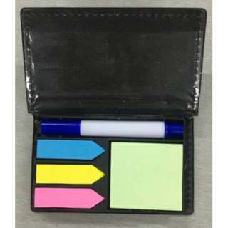 Sticky Memo Pad & Index Tabs Desk Organiser #312