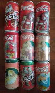 可口可樂罐 聖誕版(收藏品) 1995至1998
