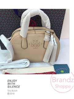 ❤️Best Deal! 💯% Authentic Tory Burch McGraw Satchel Bag @ Beige (Ready Stock)
