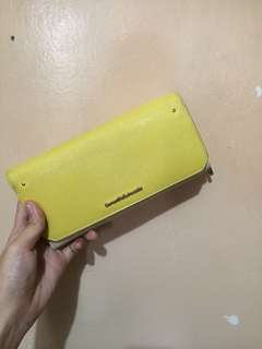 Authentic White/Yellow long wallet