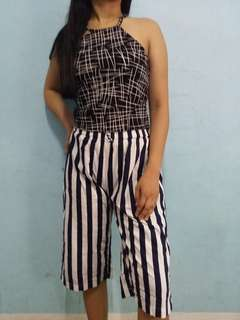 Cropped top & square pants