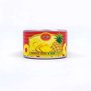 PINEAPPLE SLICES CANNED CLOCK BUNDLE