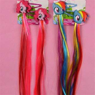 My Little Pony hair clips wigs/ Hair clips/ Hair bands