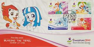 First Day Covers - Singapore 2010 Youth Olympic Games