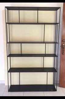 Minimalist black Pols Potten metal book shelf