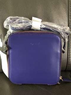 Anges b  紫色 全新 斜咩袋