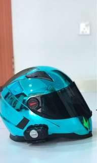 Nenki Chrome Blue Helmet