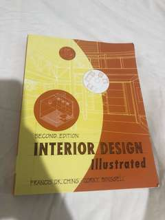 Interior Design Illustrated second edition. Barely used.