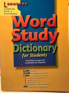 Word Study Dictionary for Primary