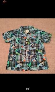 🚚 美國帶回 Children's Place 男童 夏威夷襯衫 花襯衫 9成新