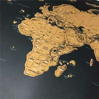 World Map scratch