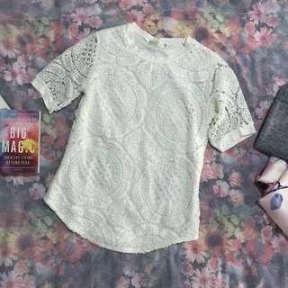 Crochet Blouse in White