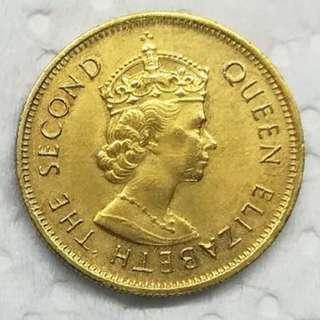 香港 1980年 壹毫 10 cents 女皇
