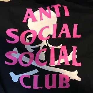 Anti social social club tee skull off white nike supreme