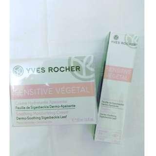 > 30% Discount! $35/set. Yves Rocher Moisturiser & Eye Gel. Sensitive Skin.