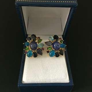 GORGEOUS Multicoloured semi precious stones earrings