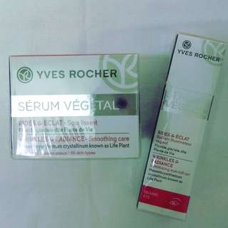 > 30% Discount! $40 ONLY/set. Yves Rocher Moisturizer & Eye Gel. Anti-Wrinkle & Radiance.