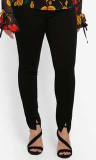 Plus size skinny fit cigarette trousers