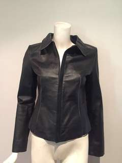 Pretty in Pink Black 100% leather jacket