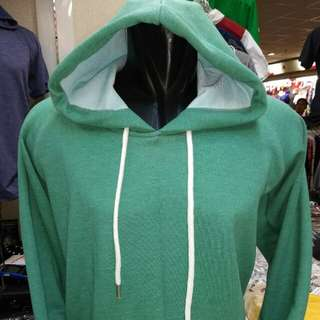 Sweater hoody hijau L
