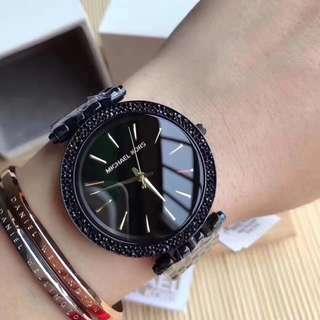 原裝Michael Kors邁克科爾斯女錶Darci MK3337/ MK3554,錶盤直徑38mm,黑色不銹鋼手錶,超薄款哦🌹🌹🌹保真🉑️驗