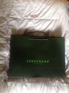 7PCS LONGCHAMP PAPERBAGS UNUSED