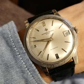 Vintage VC 江詩丹頓 , ref.6378 Q, 18k white gold, 35.5mm, featured bezel , all original